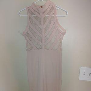 Blush Pink Lace Mini Dress. New never worn